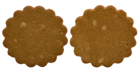 Two Brown Christmas cakes
