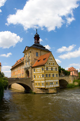 Historical City Hall building in Bamberg