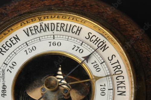 Leinwanddruck Bild Barometer