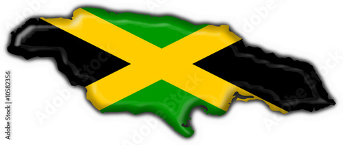 jamaica button flag map shape