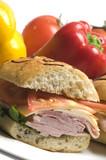 gourmet ham sandwich poster