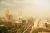 dust storm in dubai, united arab emirates poster