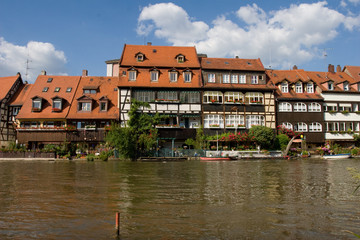 """Little Venice"" (""Klein-Venedig""), houses at river in Bamberg"