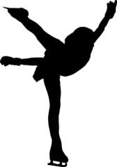 Silhouette figure skating female