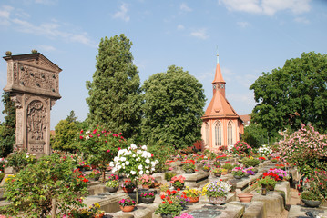 Johannisfriedhof Grab Albrecht Dürer Rosen