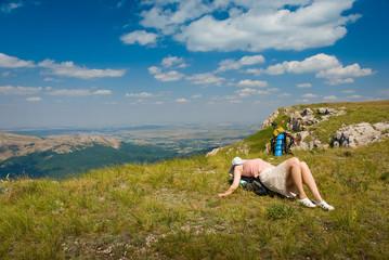 Happy hiker