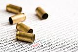 bullet shells over violence poster