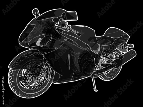 Illustration of a super bike.