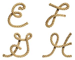 Letter E, F, G, H