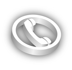 3D Telephone Symbol