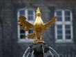 Leinwanddruck Bild - Goslaer Adler, Brunnen