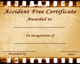 accident free poster
