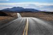 Leinwanddruck Bild - Desert Highway, Death Valley National Park, California