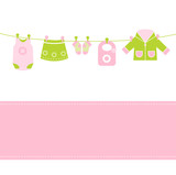Baby girl arrival announcement card poster