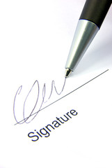 Signature and pen 2