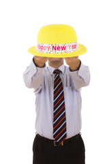 new year yellow hat