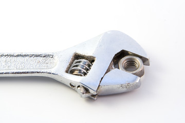 Adjustable wrench & nut