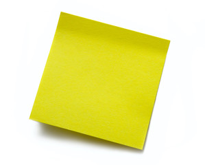 Clear yellow sticky note