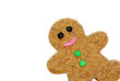 Gingerbread cookie, decorated, isolated on white