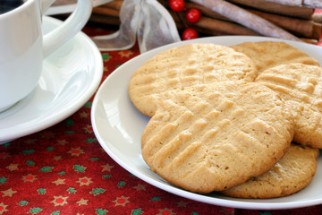 Peanut Butter Cookies and Coffee