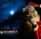 Nostalgic Santa poster