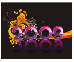 composicion de año nuevo en vector