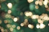 Defocused Christmas lights poster
