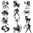zodiac sign vector silhouettes