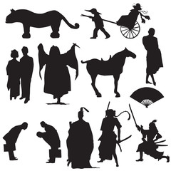 """""""the east"""" vector silhouette"""