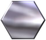 3D Silver Hexagon poster