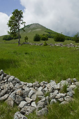 Mountain landscape scene, Velebit, Croatia