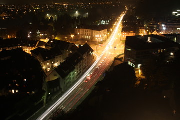 traffic at night