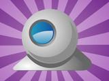 Computer webcam illustration poster