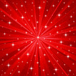 Red  stars vector background