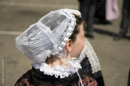 bretagne belle le coiffe bretonne traditionnelle photo libre de droits sur la banque d. Black Bedroom Furniture Sets. Home Design Ideas
