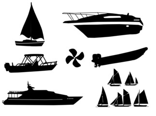 watercraft silhouettes