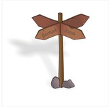 the wooden sign, traffic sign, four dide sign