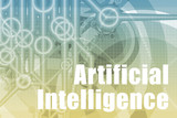 Artificial Intelligence Abstract poster