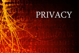 Privacy Abstract Background in Red and Black poster