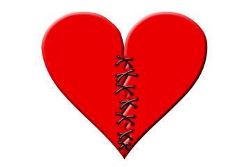 gebrfochenes Herz geflickt