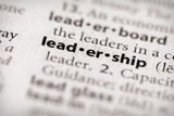 Dictionary Series - Attributes: leadership poster