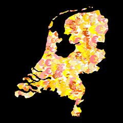 Netherlands map with euros