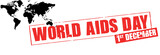 world AIDS day rubber stamp