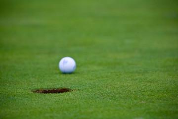 golf ball rolling