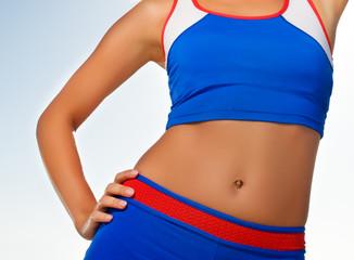 Fitness trainer body fragment
