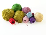 multicolor threads for embroidery and crocheting poster