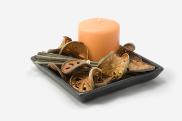 Potpourri and candle