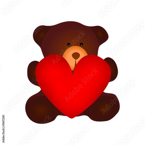 teddyb r mit herz stockfotos und lizenzfreie vektoren auf bild 10672161. Black Bedroom Furniture Sets. Home Design Ideas