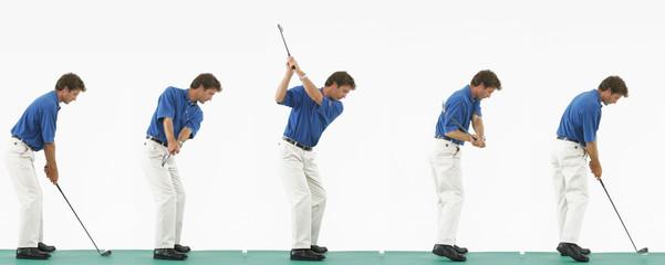 golfschlag schwung golflehrer