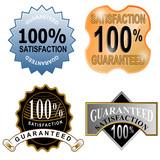 100% satisfaction guaranteed icon poster